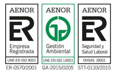 Mycsa Mulder renueva sus Certificados de Calidad ISO 9001 / ISO 14001 / OHSAS 18001