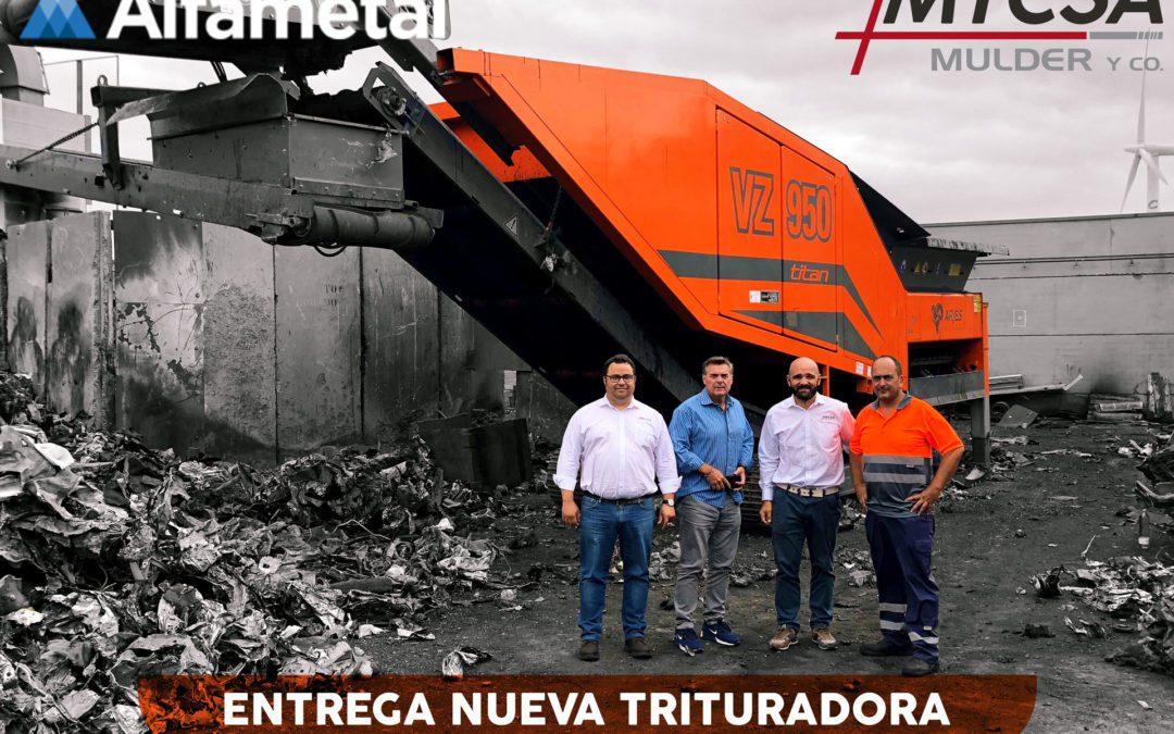 Nueva Entrega de Maquinaria VZ950 TITAN – ALFAMETAL
