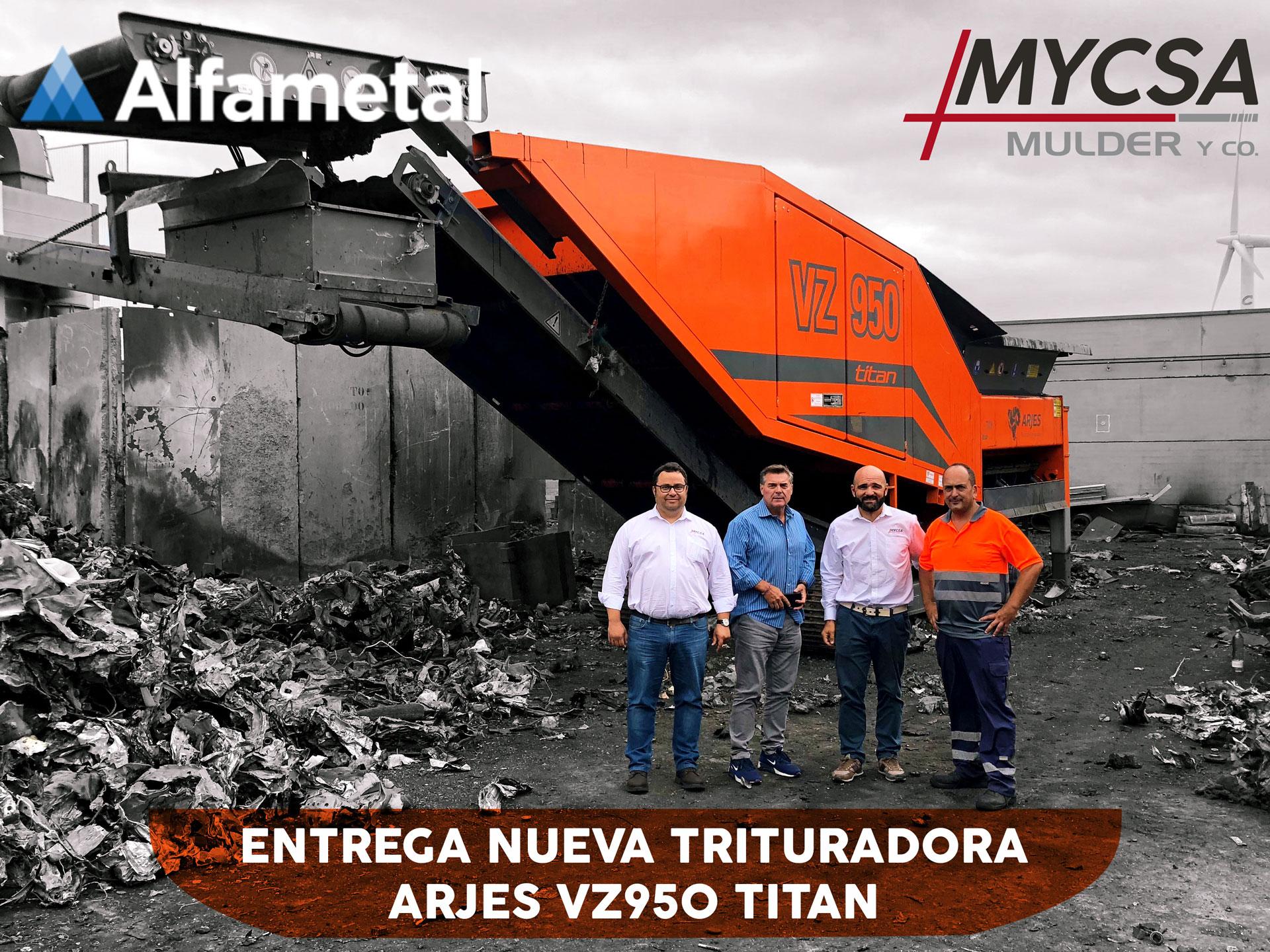 Entrega ARJES VZ950 TITAN - Alfametal - Mycsa Mulder