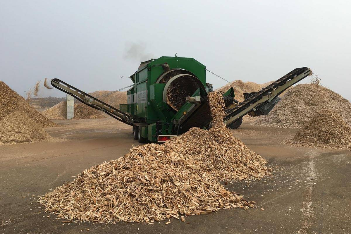 cribas para el proceso de reciclaje de madera