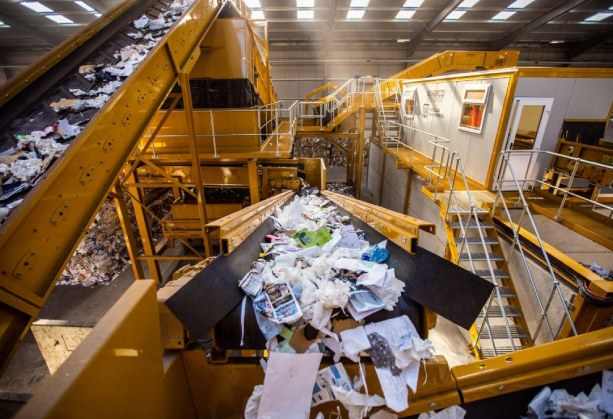 planta de reciclaje de residuos industriales